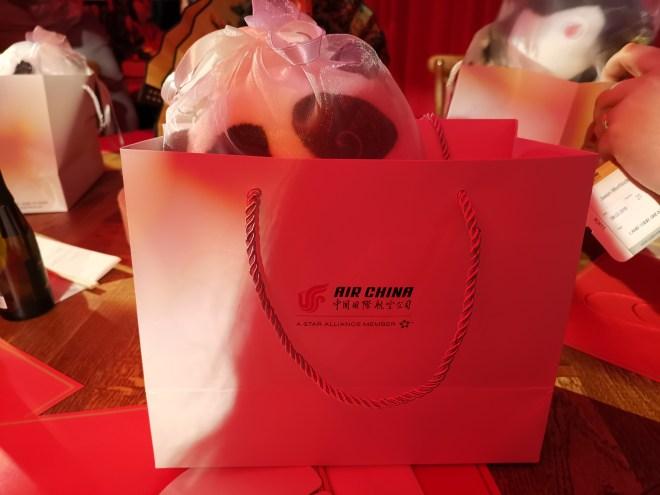 Air China Land of Luck - panda gift