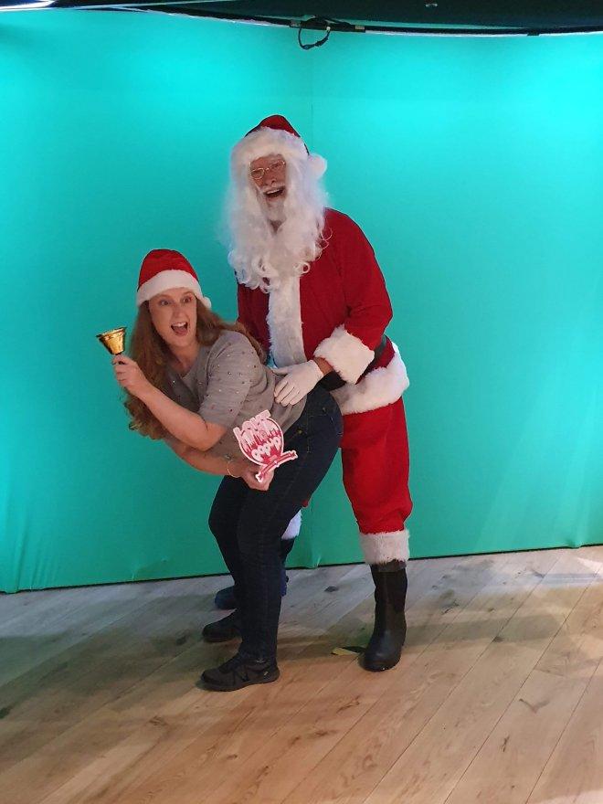 Moonpig me and Santa