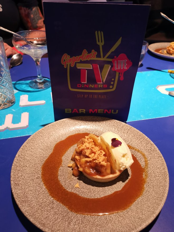 Gingerline's TV Dinners dessert by Love Pop Ups London