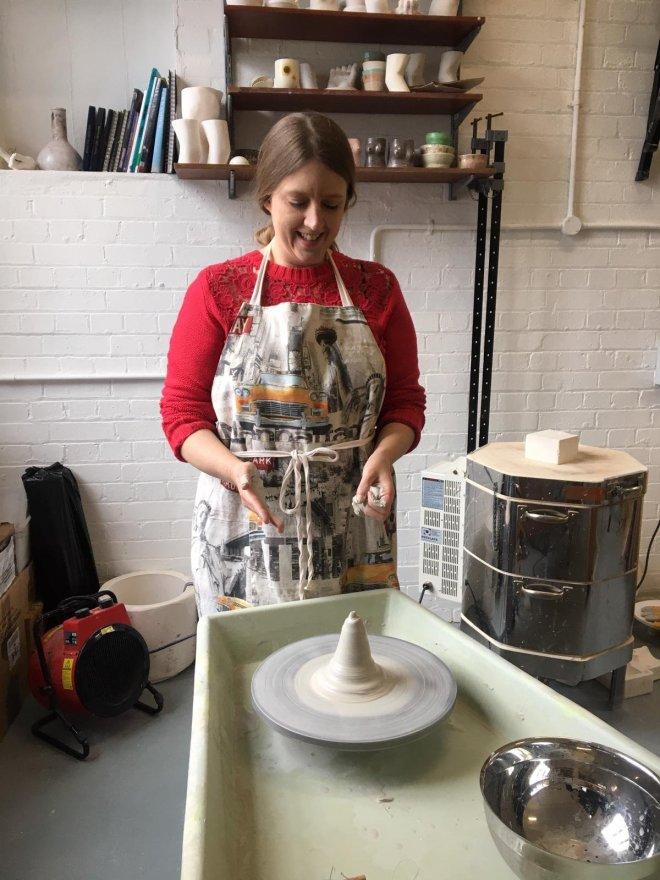 Amanda Cotton Workshop me at Potters Wheel