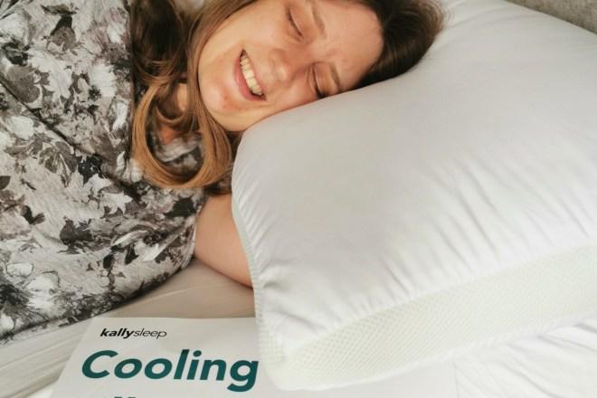 Kally Sleep cooling pillow me sleeping