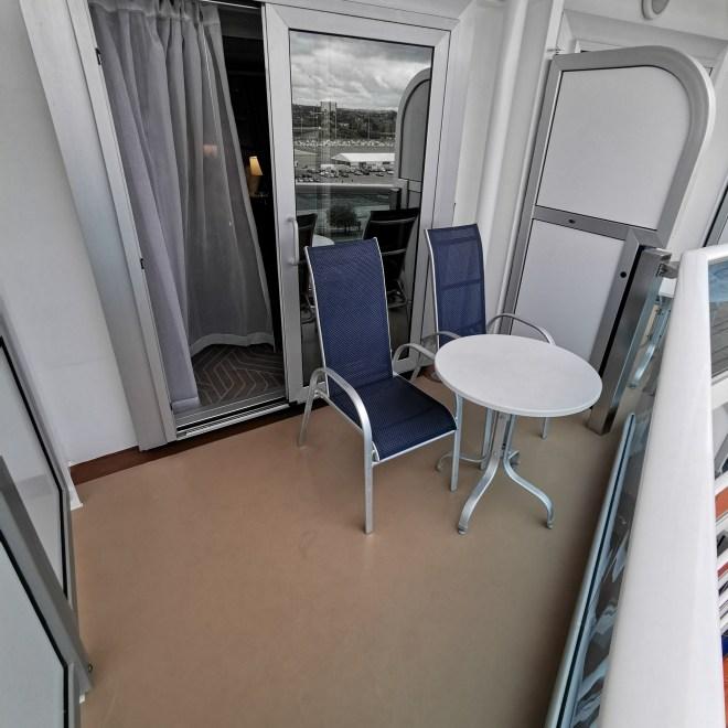 Sky Princess Mini Suite balcony