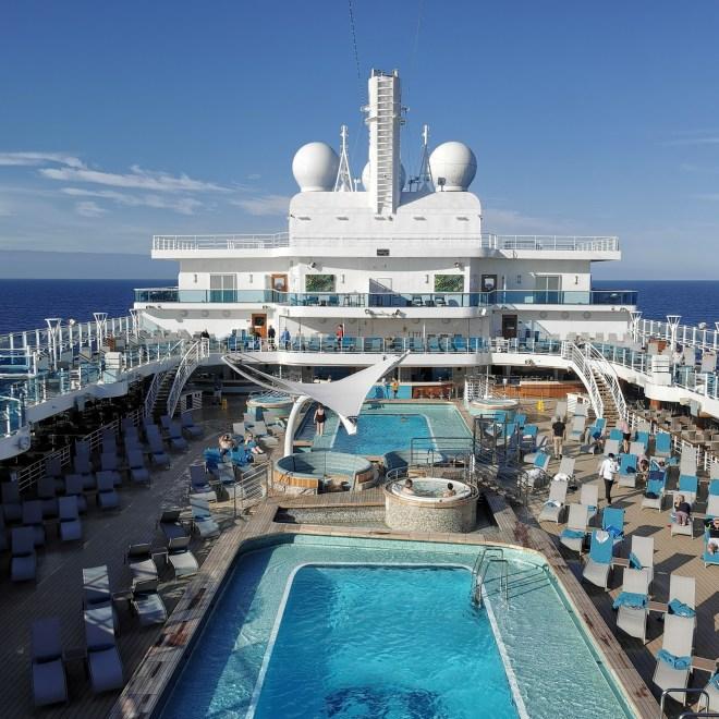 Sky Princess pool overview