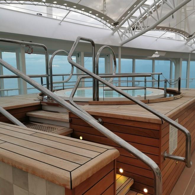 Sky Princess cruise Sanctuary hot tub