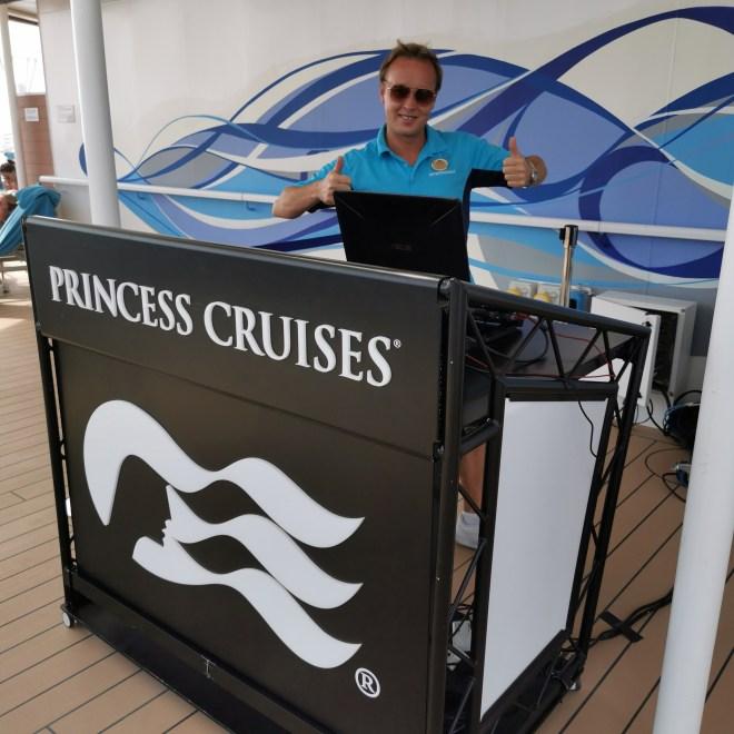 Sky Princess pool area DJ