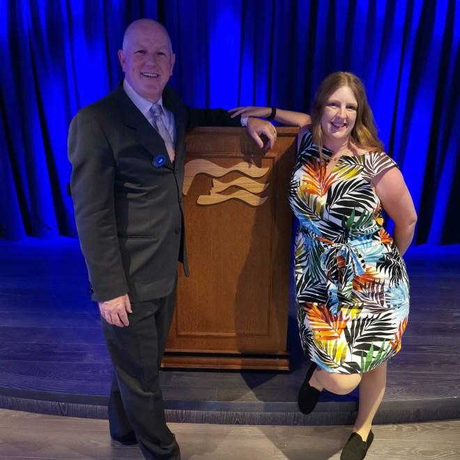 Sky Princess cruise director and me