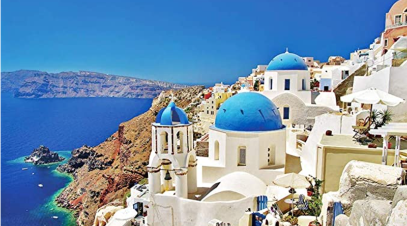 Landscape of Greek Island Santorini