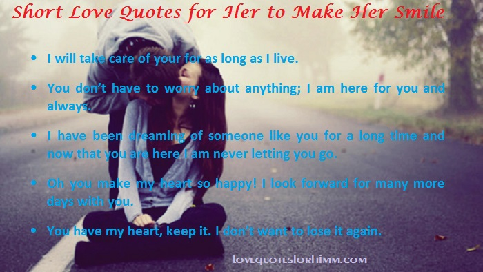 Short Love Quotes for Her to Make Her Smile