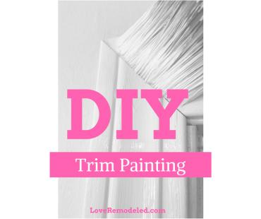 DIY Trim Painting