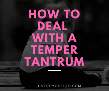 How to Deal with Toddler Temper Tantrums