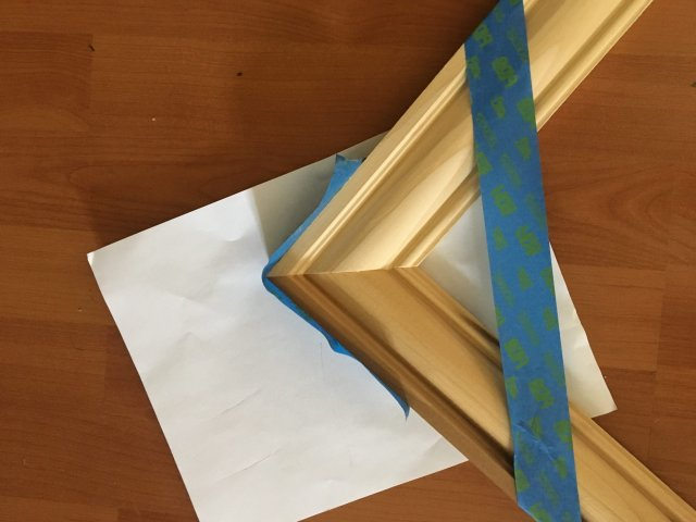 How To Glue A Mirror Frame Together