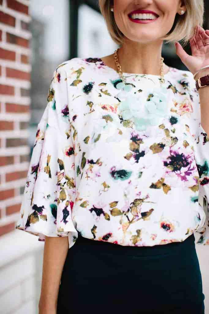 Floral Blouse - @loverlygrey