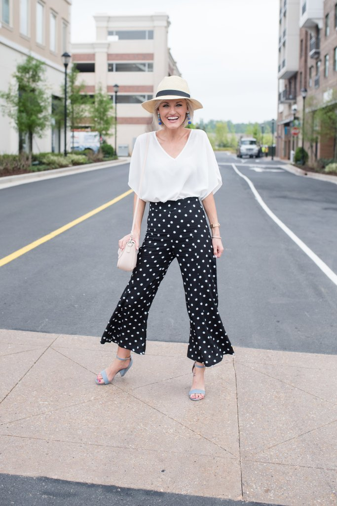 polka dot pants - www.loverlygrey.com