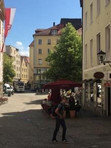 Regensburg walking tour - street