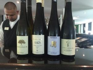 Wine tasting all 4 bottles