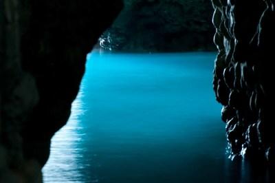 青の洞窟の絶好ポイント