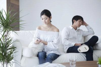 性格の不一致が起こっている夫婦