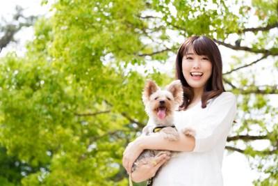 独身女性とペット(犬)