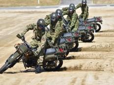 自衛隊の偵察バイク