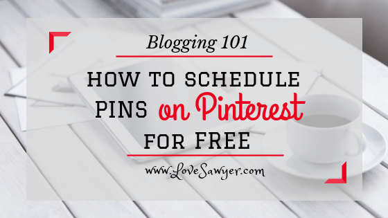 Schedule Pins on Pinterest for free