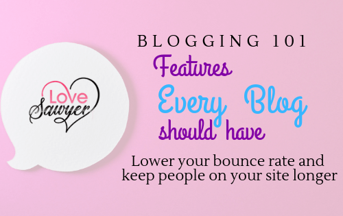 Features every Book Blog needs