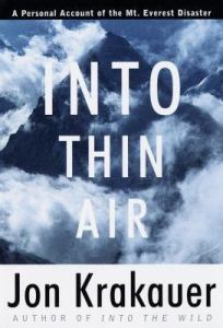 Vicarious Thrills, books for the arm chair adrenaline junkie into thin air by john krakauer