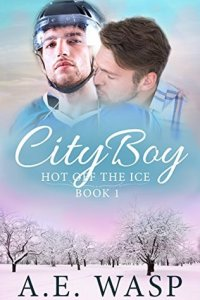 Gay Hockey Romance Novels City Boy by A. E. Wasp