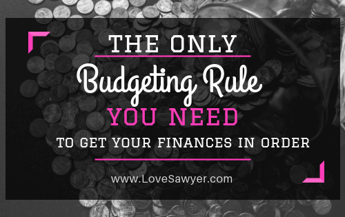 50/30/20 rule of budgeting
