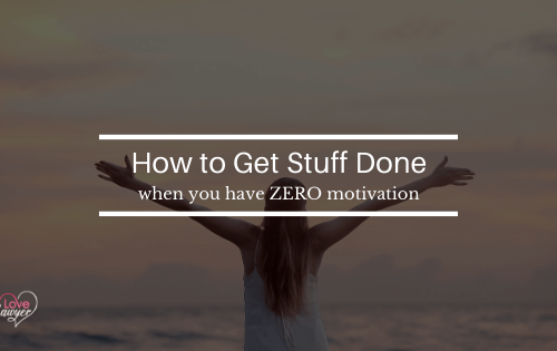 Zero motivation? How to cope