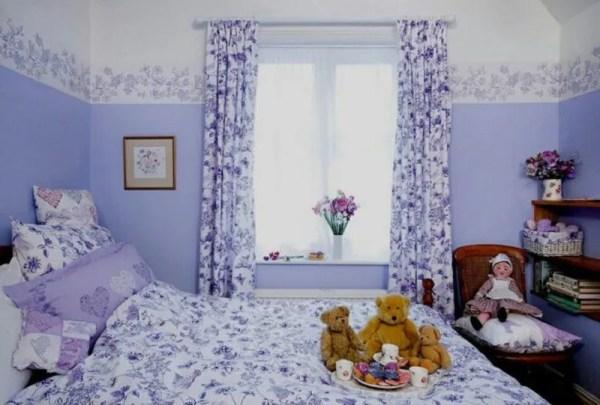 Фиолетовые шторы, тюль в интерьере спальни и не только (12 ...