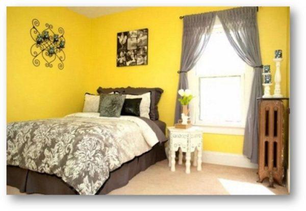 Какие шторы подойдут к желтым обоям (8 фото)