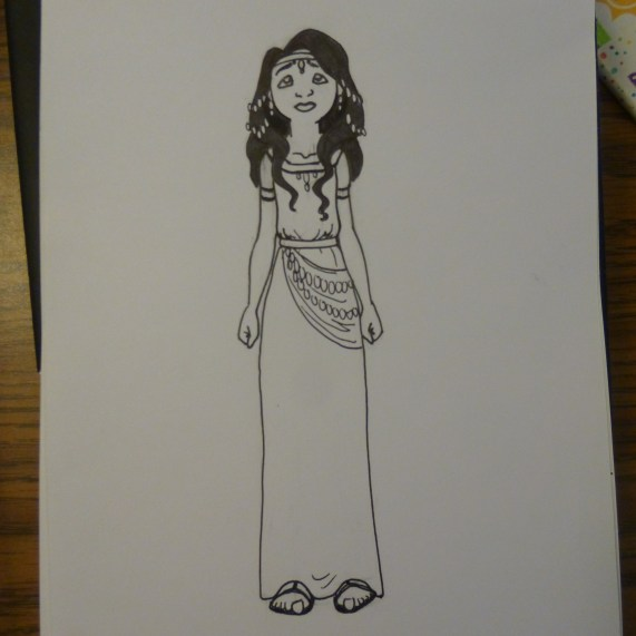 Esther, a coloring page for Sister Sherwood