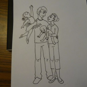Drew the last one based on Elder Christofferson's talk on fathers (I love you Dad!:D)