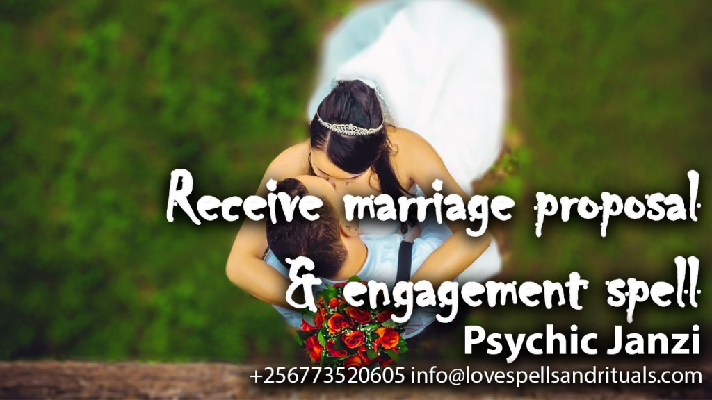 Spell to receive marriage proposal and engagement spell