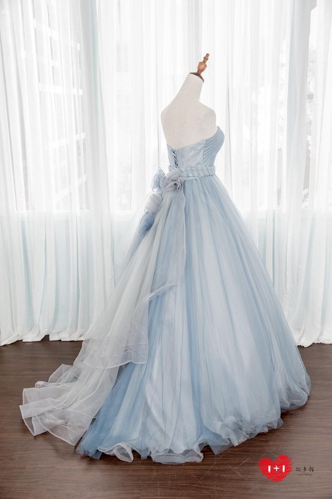 手工婚紗:花園系拼接高冷晚禮服