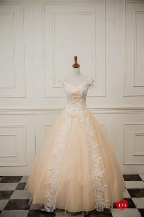 手工婚紗:氣質千金的甜美晚禮服