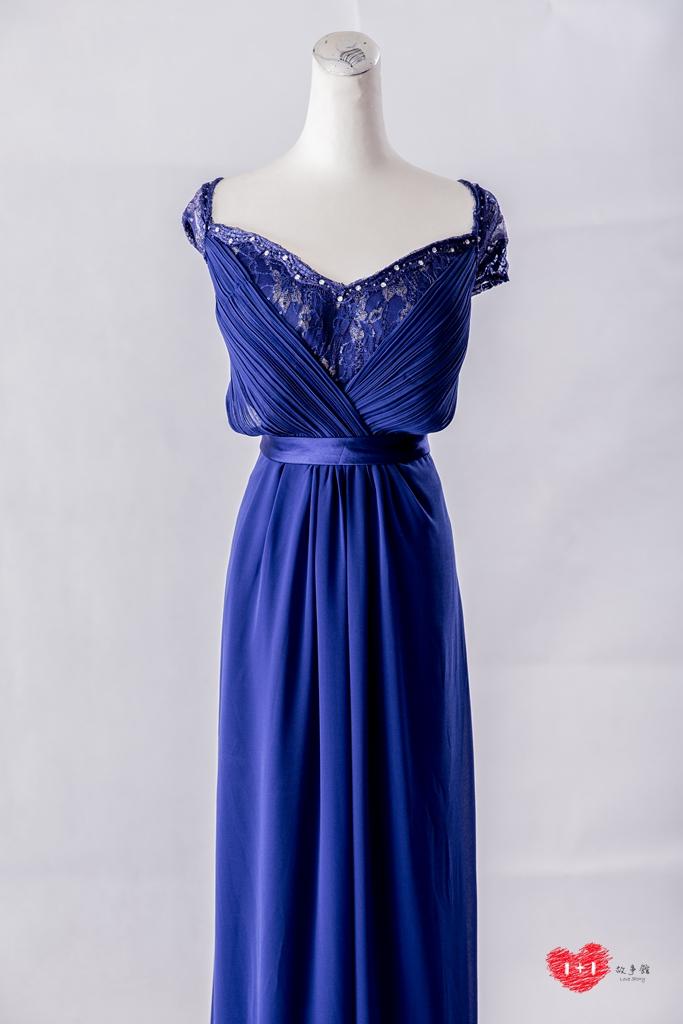 手工婚紗出租:奢華白金氣質晚禮服