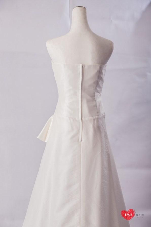 手工婚紗:氣質華麗透膚晚禮服
