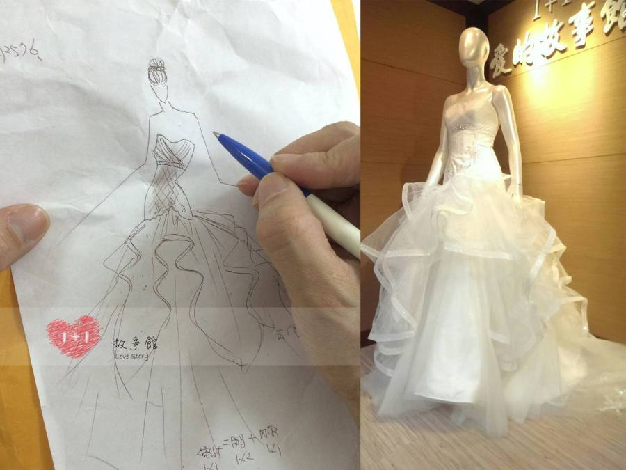 量身訂製專屬手工婚紗禮服