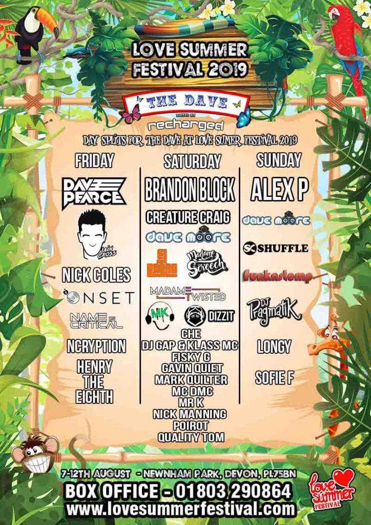 Love Summer Festival | House Music | The Dave | Dave Pearce | Brandon Block | Festival | Devon