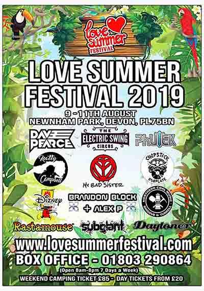 Love Summer Festival 2019 | Flyer | Plymouth Devon