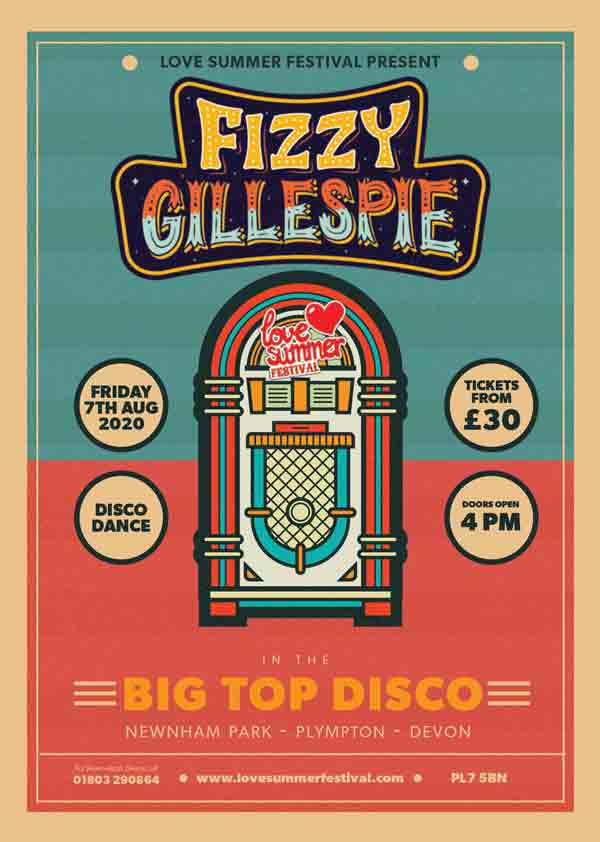 Fizzy Gillespie appearing Live at Love Summer Festival 2020 in Plymouth, Devon on Friday 7th August 2020