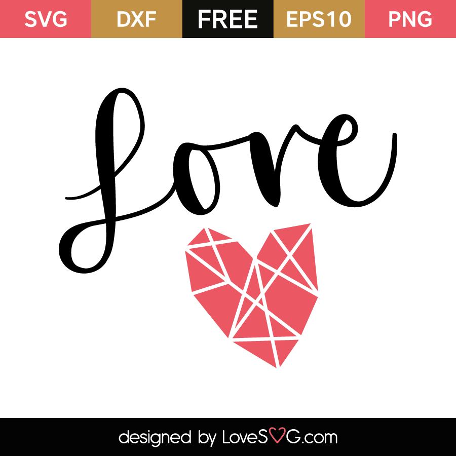 Download Love Diamond Heart | Lovesvg.com