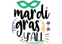 Free SVG cut file - Mardi Gras Y'all