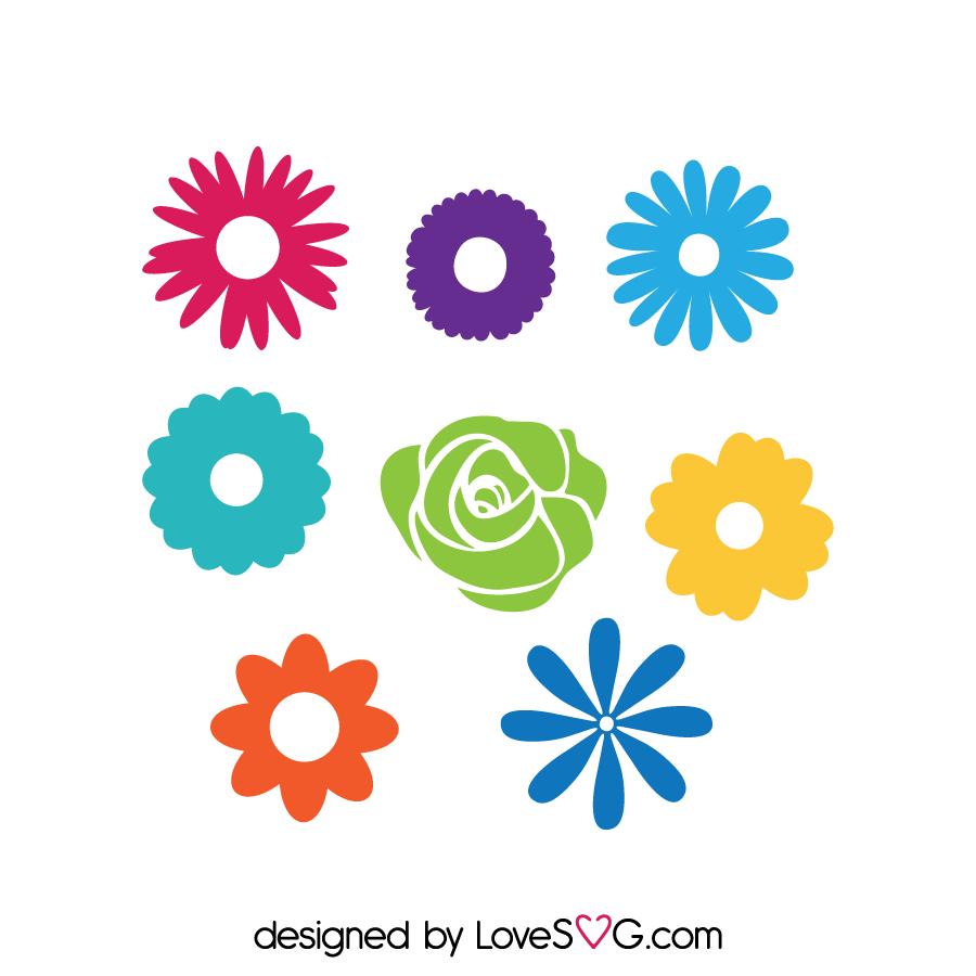 Download Flowers Set   Lovesvg.com