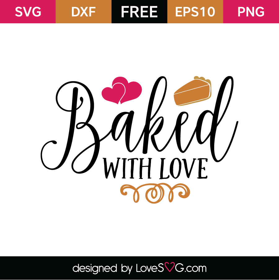 Download Baked with love | Lovesvg.com