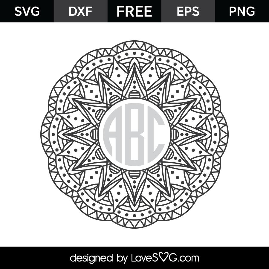 Download Mandala Monogram Frame   Lovesvg.com