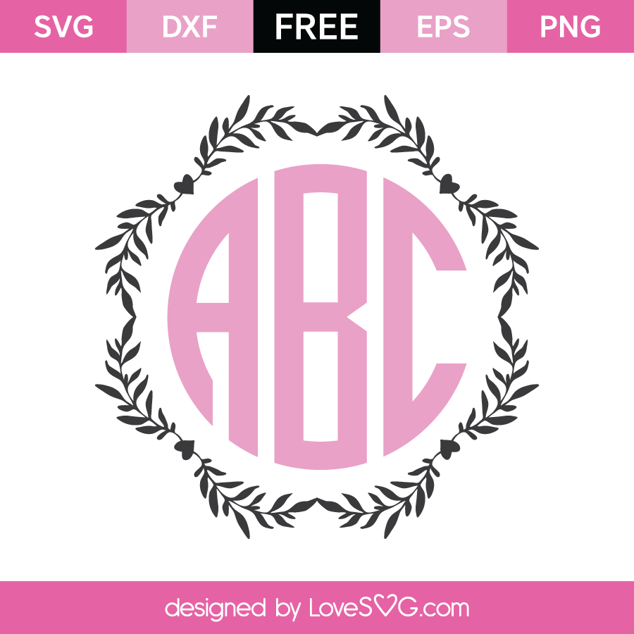 Download Wreath Monogram Frame | Lovesvg.com