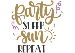 Party sleep sun repeat