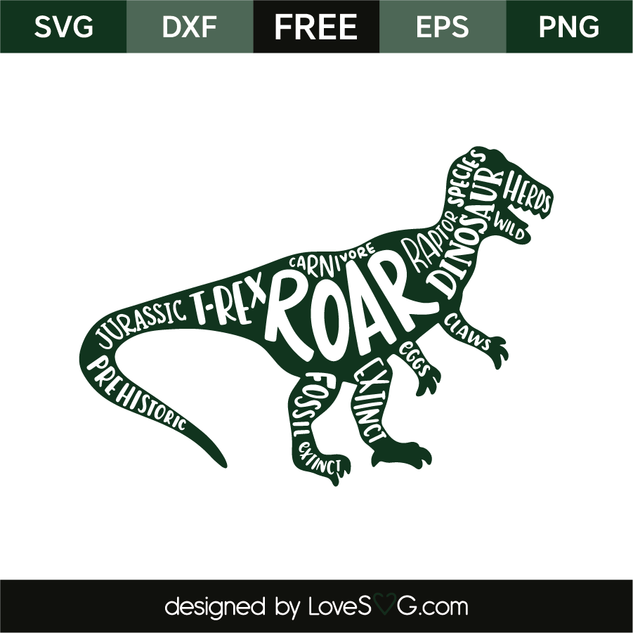 Download Dinosaur and words | Lovesvg.com